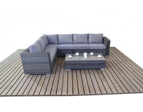 Luxan WGF-1502 Platinum Large Corner Set - Grey