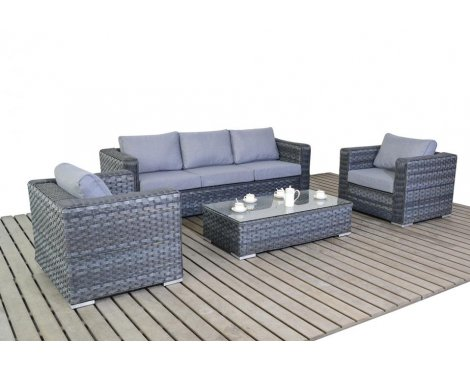 Luxan WGF-1506 Platinum Large Sofa Set - Grey
