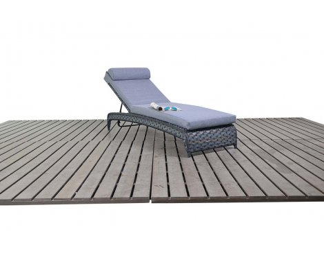 Luxan WGF-1516 Platinum Lounger - Grey