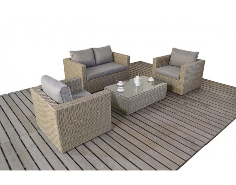 Luxan WGF-1805 Rural Small Sofa Set - Natural