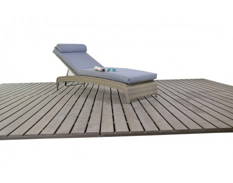 Luxan WGF-1816 Rural Lounger - Natural