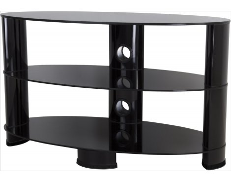 "AVF Oval 850 High Gloss TV Stand For TVs up to 40"" - Black"