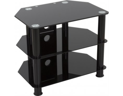 "AVF Universal Black Glass and Black Legs TV Stand For up to 32"" TVs"