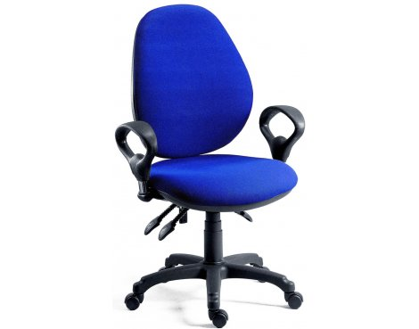 DSK Byron High Syncron High Back Operator Desk Chair - Blue