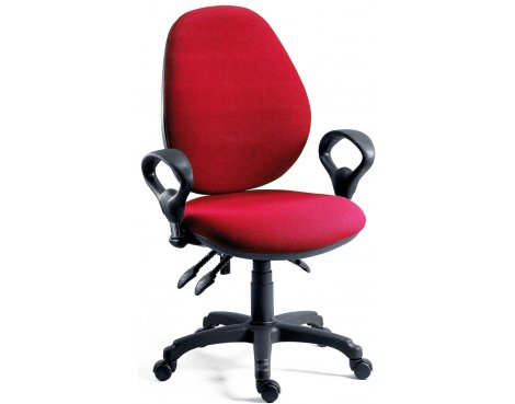 DSK Byron High Syncron High Back Operator Desk Chair - Burgundy