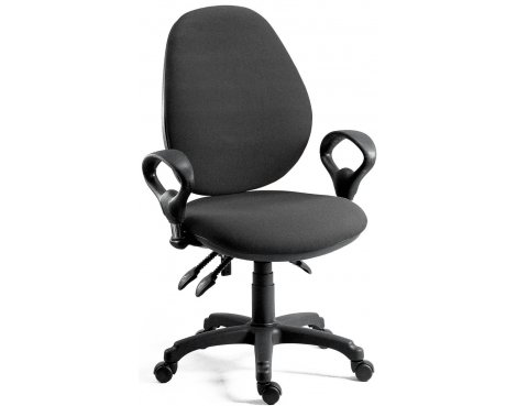 DSK Byron High Syncron High Back Operator Desk Chair - Charcoal