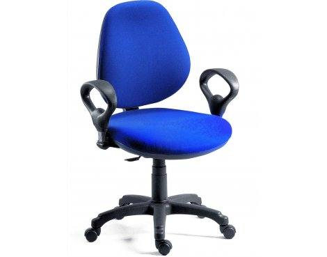 DSK Byron Medium Back Operator Desk Chair - Blue