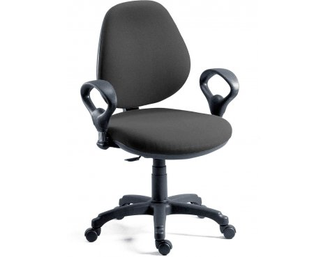 DSK Byron Medium Back Operator Desk Chair - Charcoal