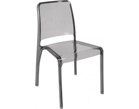 DSK Clarity Translucent Polycarbonate Pack of 4 Chairs - Smoked