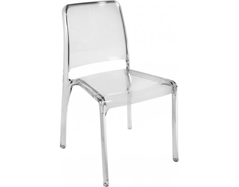 DSK Clarity Translucent Polycarbonate Pack of 4 Chairs - Clear