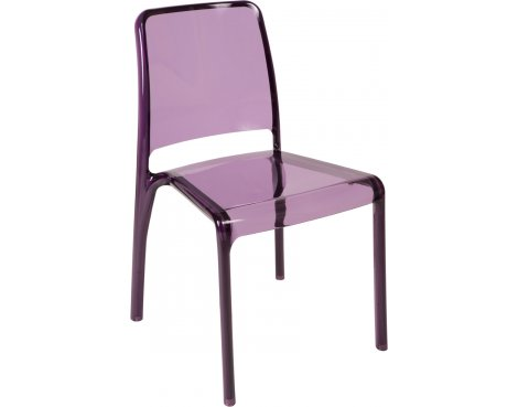 DSK Clarity Translucent Polycarbonate Pack of 4 Chairs - Violet