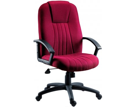 DSK City Fabric Executive Armchair - Burgundy