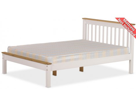 Amani Grasmere Single White Bed Frame - No Drawers