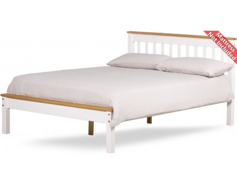 Amani Grasmere Small Double White Bed Frame - No Drawers