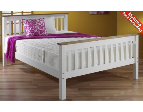 Amani Townfield Small Double White Bed Frame - No Drawers