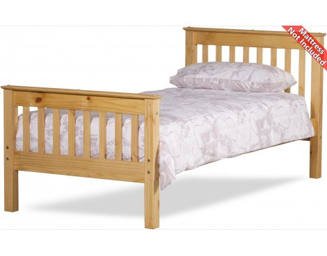 Amani Somerset Single Waxed Pine Bed Frame - No Drawers