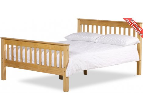 Amani Somerset Double Waxed Pine Bed Frame - No Drawers