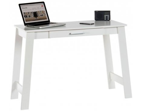 DSK Soft White Home Office Trestle Desk
