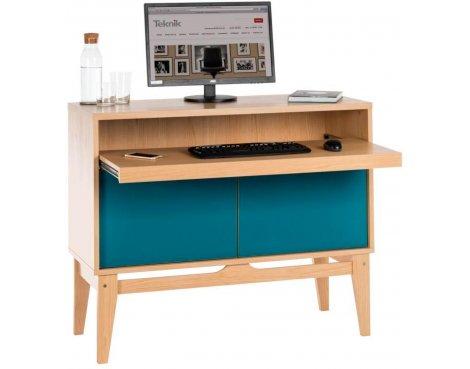 DSK Peacock Blue Home Office Modern Desk
