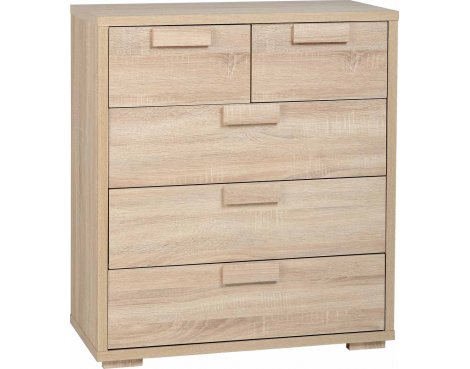ValuFurniture Cambourne 3+2 Drawer Chest - Sonoma Oak Effect