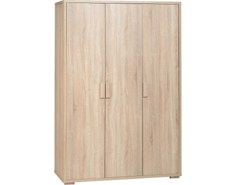 ValuFurniture Cambourne 3 Door Wardrobe - Sonoma Oak Effect