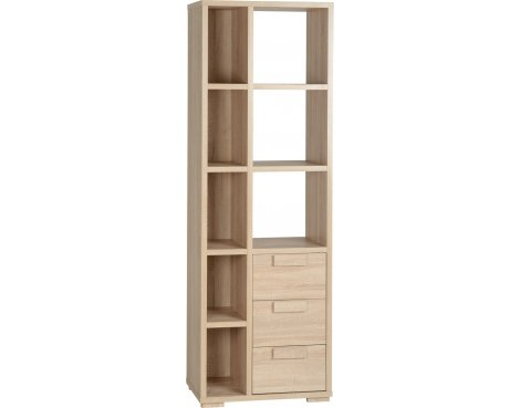 ValuFurniture Cambourne 3 Drawer Display Unit - Sonoma Oak Effect