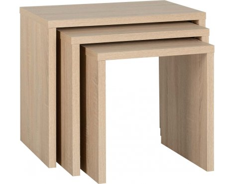 ValuFurniture Cambourne Nest of Tables - Sonoma Oak Effect