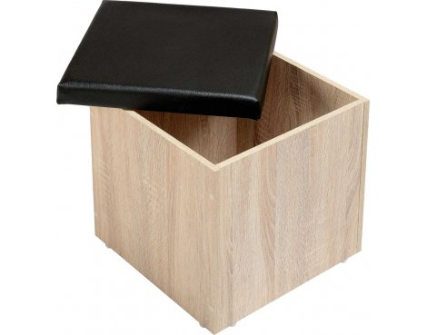ValuFurniture Cambourne Storage Stool - Sonoma Oak Effect