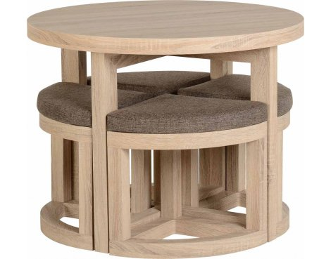 ValuFurniture Cambourne Stowaway Dining Set - Sonoma Oak Effect