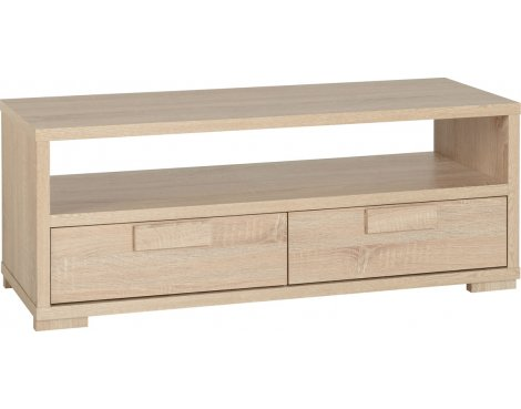 ValuFurniture Cambourne 2 Drawer TV Unit - Sonoma Oak Effect