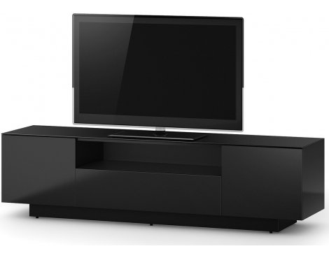 Sonorous LB 1830 Black Gloss Wood TV Cabinet