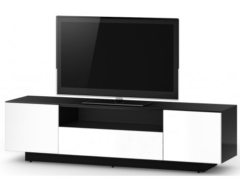 Sonorous LB 1830 White and Black Gloss Wood TV Cabinet