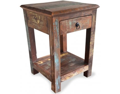 Shankar New England Reclaimed Timber Side Table
