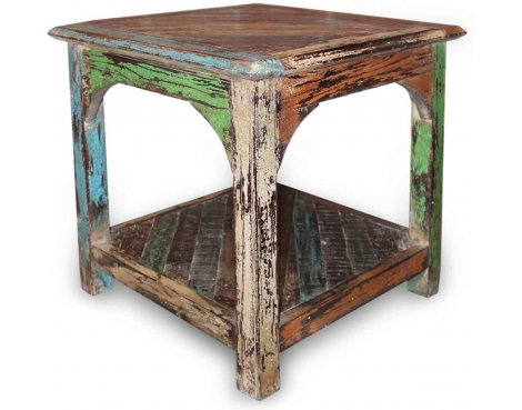 Shankar New England Reclaimed Timber End Table