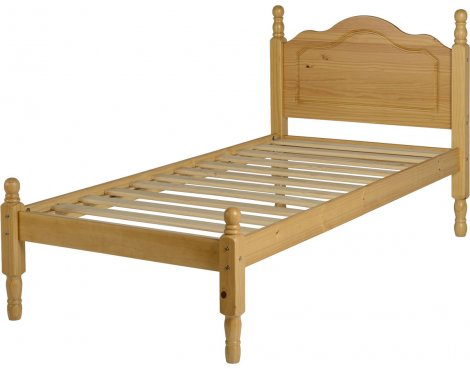 ValuFurniture Sol Single Bed Frame 3ft - Antique Pine