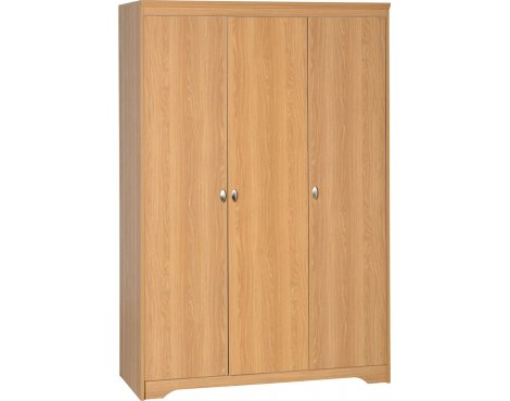 ValuFurniture Regent 3 Door Wardrobe - Teak