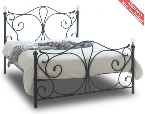 Sareer Sherry Black King Sized Metal Bed Frame