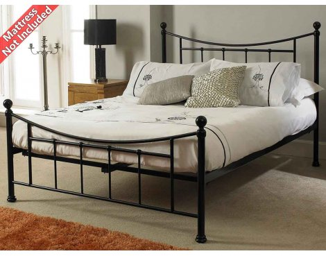 Sareer Bristol Black Metal Double Bed Frame