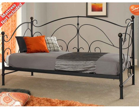 Sareer Milano Black Day Bed
