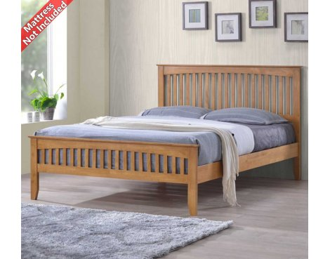 Sareer Sandhurst Double Oak Bed Frame