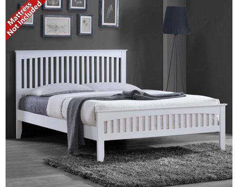Sareer Sandhurst Double White Bed Frame