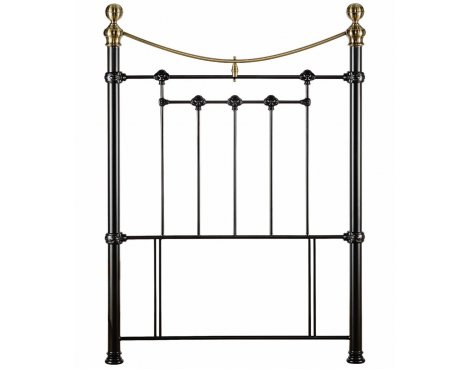 Julian Bowen Victoria Satin Black Single Headboard