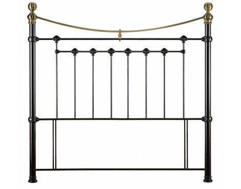 Julian Bowen Victoria Satin Black King Sized Headboard