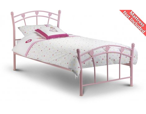 Julian Bowen Jemima High Gloss Pink Bed Frame - Single