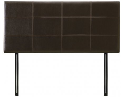 Julian Bowen Phoenix Brown Faux Leather Headboard - Double