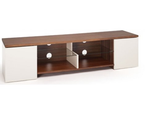 Techlink Trio Cream & Walnut Veneer TV Stand For TVs up to 75""