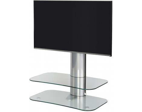 "Off-The-Wall ARC ST 800 Clear Glass & Silver TV Stand for up to 50"" TVs"