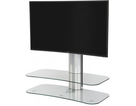 "Off-The-Wall ARC ST 1000 Clear Glass & Silver TV Stand for up to 60"" TVs"