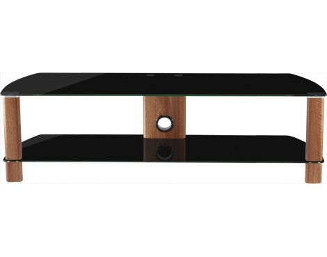 Alphason Century ADCE1500-BLK Black Glass TV Stand