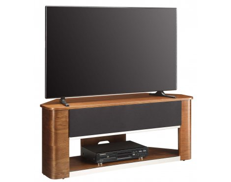 Jual JF708 Accoustic Walnut Corner TV Stand